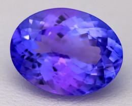 5.14Ct Natural Vivid Blue Tanzanite IF Flawless Oval Master Cut A2205