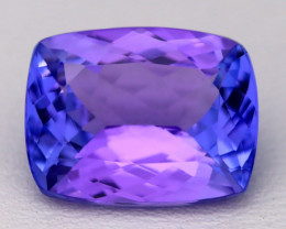5.41Ct Natural Violet Blue Tanzanite IF Flawless Octagon Master Cut A2207