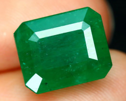 Emerald 4.38Ct Octagon Cut Natural Zambian Green Color Emerald A2208