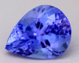 5.32Ct Natural Vivid Blue Tanzanite IF Flawless Pear Master Cut A2211