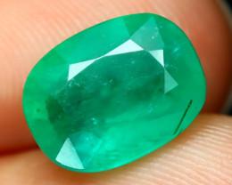 Emerald 2.07Ct Octagon Cut Natural Zambian Green Color Emerald A2216
