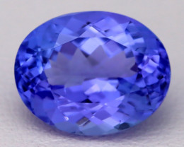 4.66Ct Natural Vivid Blue Tanzanite IF Flawless Oval Master Cut B2301