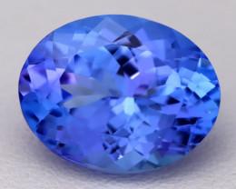 4.47Ct Natural Vivid Blue Tanzanite IF Flawless Oval Master Cut B2302