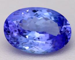 7.52Ct Natural Vivid Blue Tanzanite IF Flawless Oval Master Cut B2303