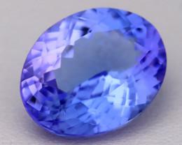 6.03Ct Natural Vivid Blue Tanzanite IF Flawless Oval Master Cut B2306