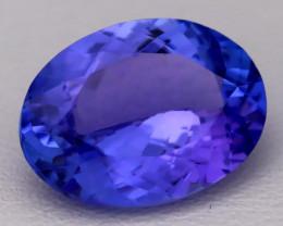 5.25Ct Natural Vivid Blue Tanzanite IF Flawless Oval Master Cut B2309