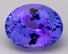 7.42Ct Natural Vivid Blue Tanzanite IF Flawless Oval Master Cut B2310