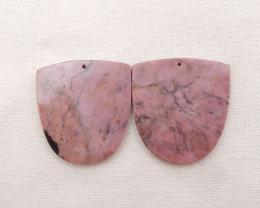 147cts Natural Rhodonite Earrings Handmade Earrings Gift H1862