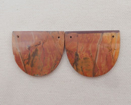 76.5cts Natural Multi color jasper Earrings Handmade Earrings Gift H1863