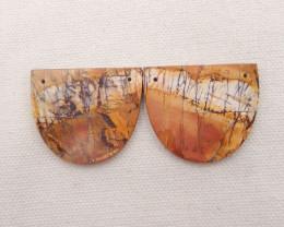 66.5cts Natural Multi color jasper Earrings Handmade Earrings Gift H1865