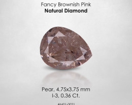 Fancy Brownish Pink 0.36 Ct. Pear Loose Natural Diamond Untreated