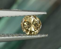 .32CT CHAMPAGNE COLOR ROUND BRILLIANT DIAMOND $1NR!