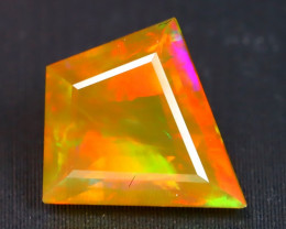 1.46Ct Patchwork Pattern Neon Rolling Flash Facted Welo Opal B2207