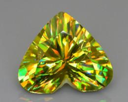 AAA Fire 5.01 ct Sphene Rainbow Color Dispersion Tanzania Mined Sku-78