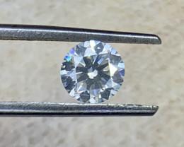 Certified 0.70 carat Natural White Diamond.
