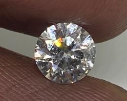 (1) Stunning 0.71cts VS2 White Round Diamond Natural
