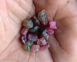 Natural Tourmaline Rough Parcel of 25 Ct Genuine Gemstones VA5171