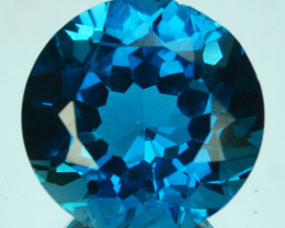 5.64 Cts Beautiful Natural London Blue Topaz 11mm Round Cut Brazil