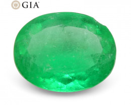 1.62ct Oval Emerald GIA Certified Colombian