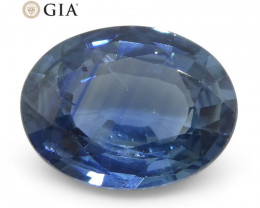 1.95ct Oval Blue Sapphire GIA Certified Ethiopian Unheated