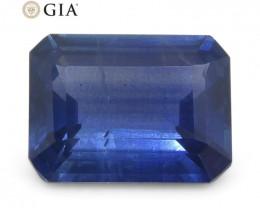 1.64ct Octagonal/Emerald Cut Blue Sapphire GIA Certified Thailand