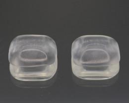 Natural white Clear Quartz Pair  13.23 Cts Top Quality