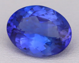 Tanzanite 2.17Ct VVS Oval Cut Natural Vivid Purplish Blue Tanzanite C2301