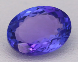 Tanzanite 1.76Ct VVS Oval Cut Natural Vivid Purplish Blue Tanzanite C2306