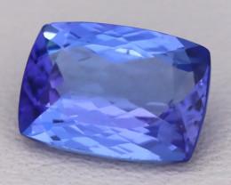 Tanzanite 1.70Ct VVS Cushion Cut Natural Purplish Blue Tanzanite C2307