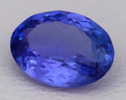 Tanzanite 1.24Ct VVS Oval Cut Natural Vivid Purplish Blue Tanzanite C2309