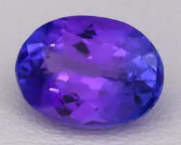 Tanzanite 1.50Ct VVS Oval Cut Natural Vivid Purplish Blue Tanzanite C2315