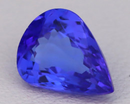 Tanzanite 1.65Ct VVS Pear Cut Natural Vivid Purplish Blue Tanzanite C2318