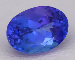 Tanzanite 1.66Ct VVS Oval Cut Natural Vivid Purplish Blue Tanzanite C2320
