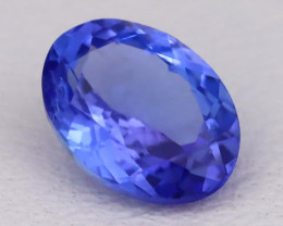 Tanzanite 1.04Ct VVS Oval Cut Natural Vivid Purplish Blue Tanzanite C2322