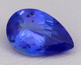 Tanzanite 1.17Ct VVS Pear Cut Natural Vivid Purplish Blue Tanzanite C2325