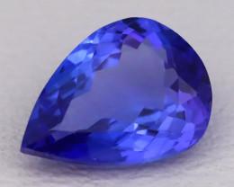 Tanzanite 1.08Ct VVS Pear Cut Natural Vivid Purplish Blue Tanzanite C2328