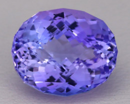 7.39Ct Natural Violet Blue Tanzanite IF Flawless Percision Master Cut AT001