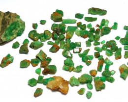 Amazing Natural color Lovely Rough Emerald lot 83CtsGN0001