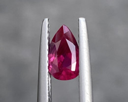 Natural Mozambique Red Ruby 1.04 Cts Brilliant Gemstone