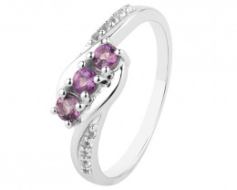Amethyst 925 Sterling silver ring #36730
