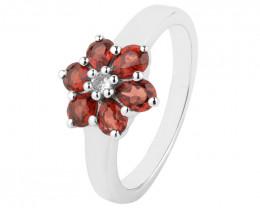 Garnet 925 Sterling silver ring #731