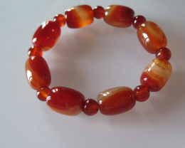 New natural red agate 10mmX14mm beads elastic bracelet drum beads braceletA
