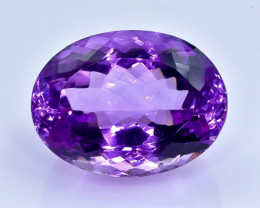 33.91 Crt Natural  Amethyst Faceted Gemstone.( AB 6)