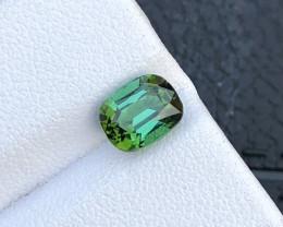 No Reserve 1.60 ct Mint Green Tourmaline Faceted Gem