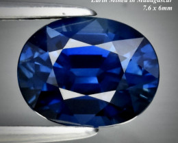 1.53ct VVS ROYAL BLUE SAPPHIRE  HEATED ONLY  7.6 x 6.0mm