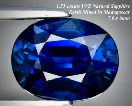 ON HOLD 1.53ct VVS ROYAL BLUE SAPPHIRE  HEATED ONLY  7.6 x 6.0mm