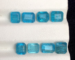 Top Color 3 Ct Natural Blue Apatite with Flouresecent