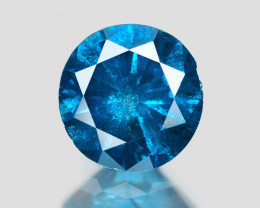 *NoReserve*Diamond 0.26 Cts Sparkling Rare Fancy Blue Color Natural