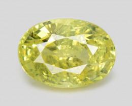 Chrysoberyl 1.38 Cts Very Rare Yellowish Green Color Natural Gemstone