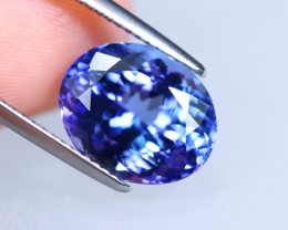 6.27cts Natural D Block Tanzanite Stone / T07 (Collection Grade)